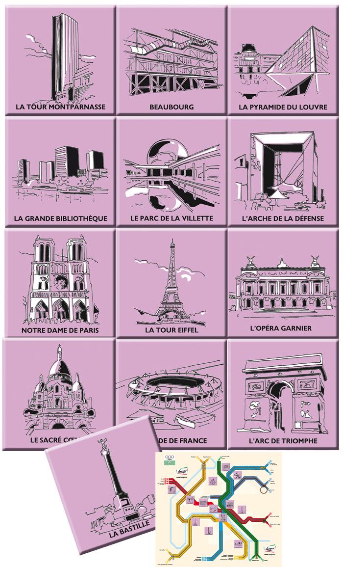 Ensemble des pictogrammes réalisés pour le stand Lampo - Salon Mod'Amont 2010