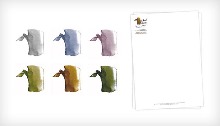 Propositions colorées du logotype et papeterie