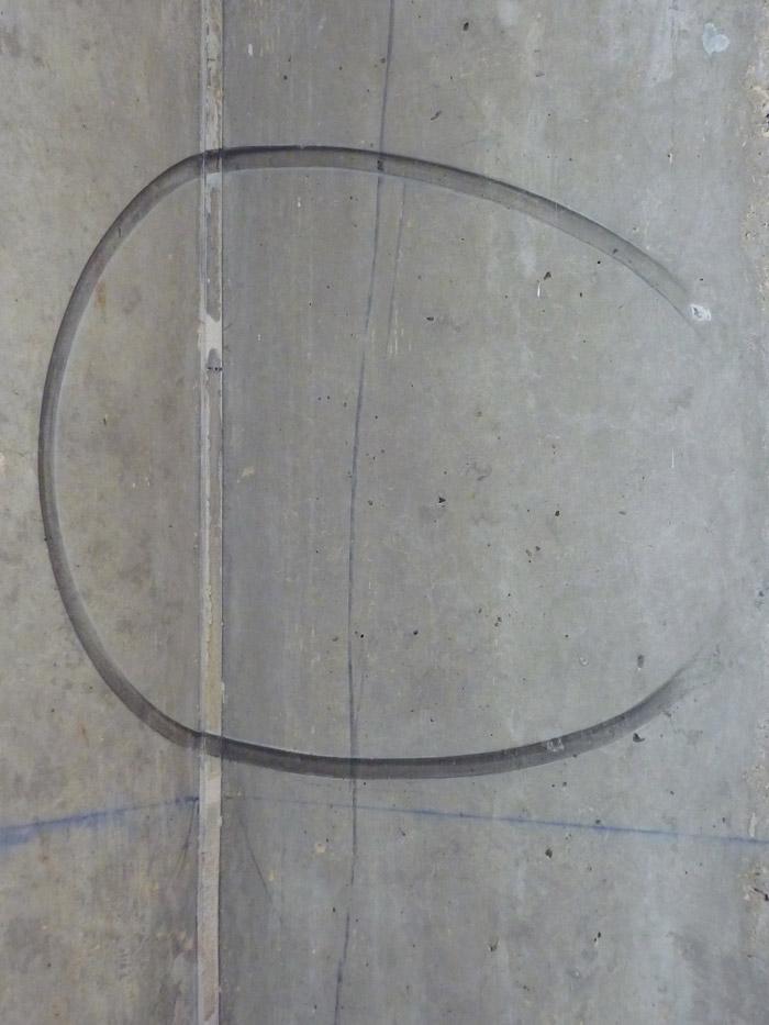 Déformation du cercle sur l'autre mur constituant l'angle.