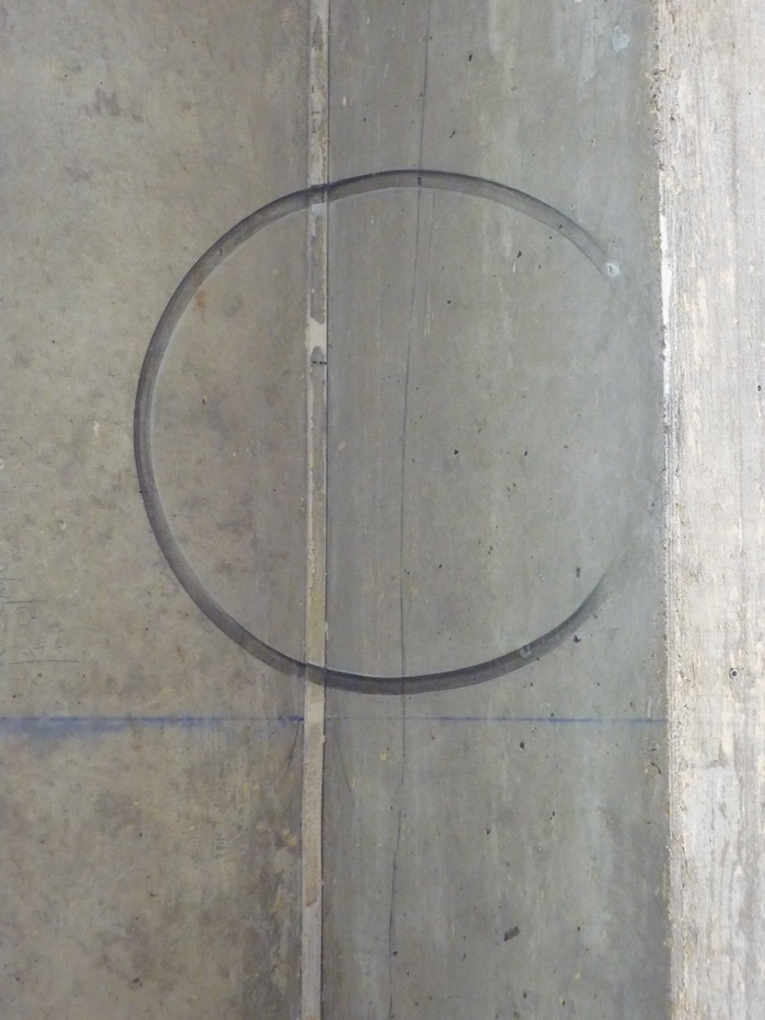 Effet visuel : reconstitution du cercle obtenue sous un angle de vue précis.