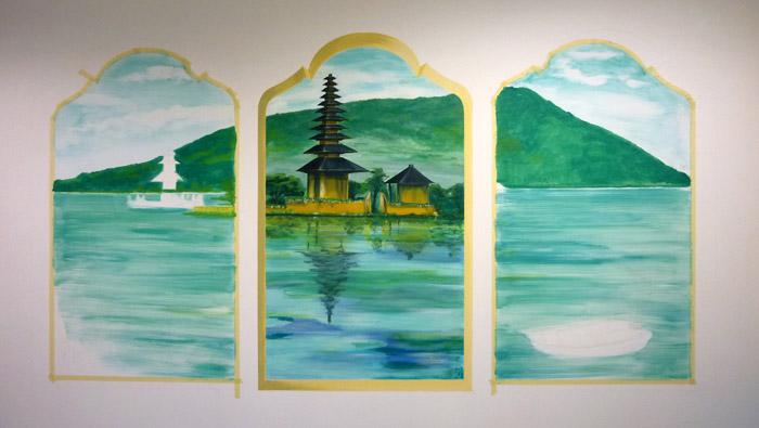 Pour la chambre Bali, la vue a également été élargie,