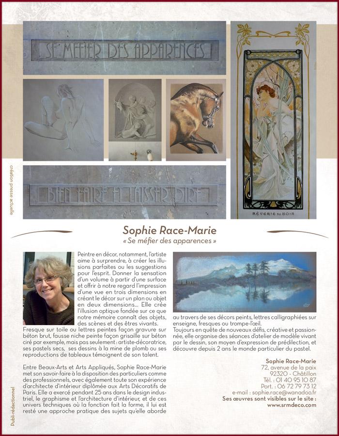 Article dans Maison et Jardin Actuel N° 17 , rubrique artistes.