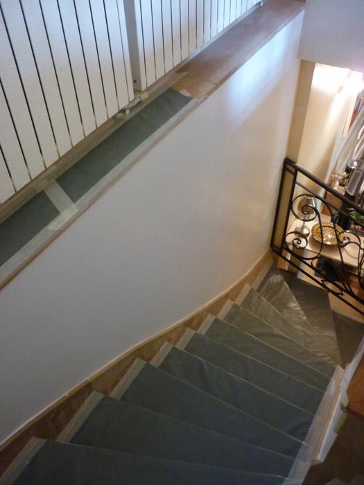 Préparation des murs par l'entreprise Graffin