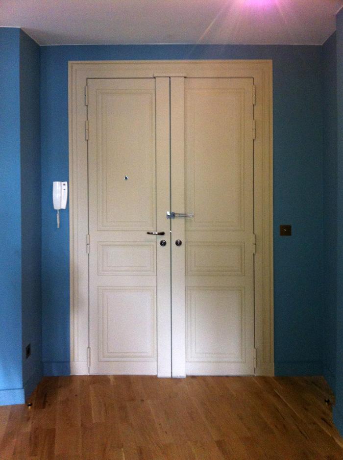 Vue générale de la porte terminée.