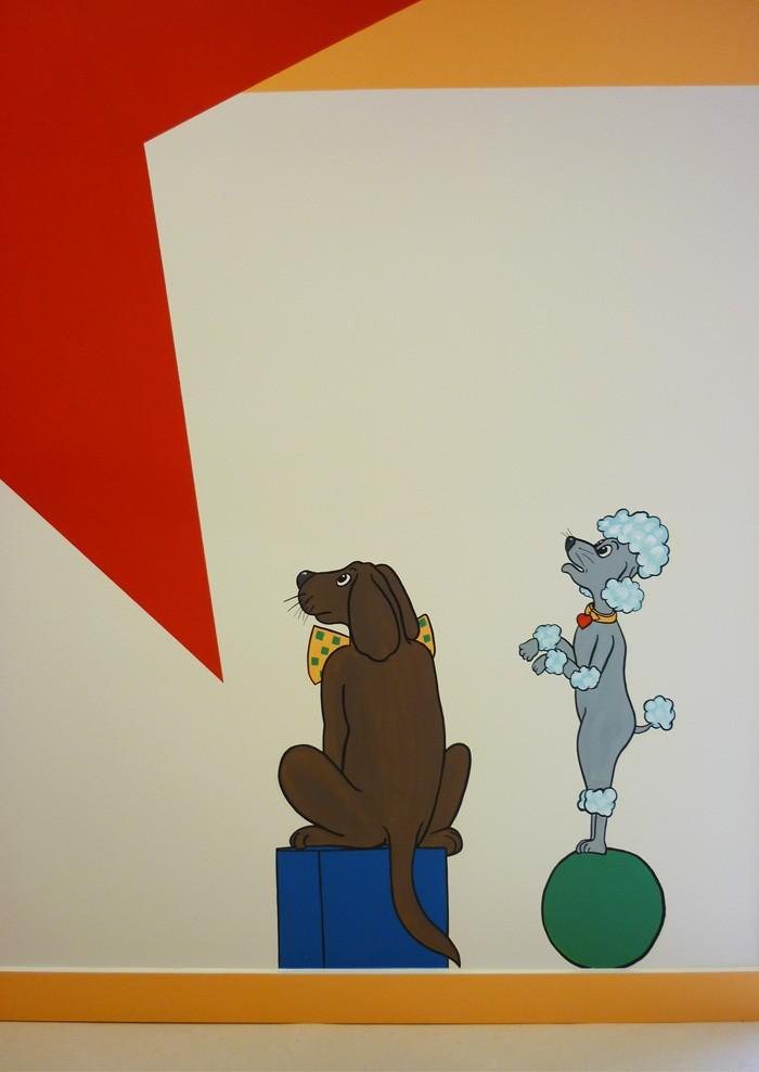 ...admirée par les 2 chiens savants.