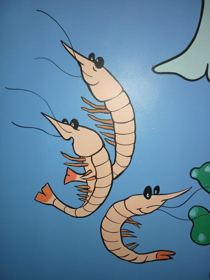 Des crevettes applaudissent le spectacle voisin...
